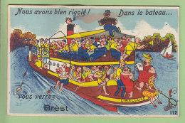 Brest : Multivue Système : Nous Avons Bien Rigolé Dans La Libellule. 10 Vues Se Dépliant. 3 Scans. Editions Gaby - Brest