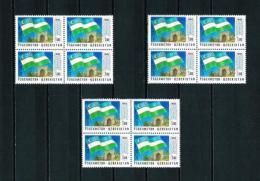 Uzbekistán  Nº Yvert  3 (3 Bloques-4)  En Nuevo - Uzbekistán