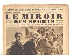 """Revue """" Le Miroir Des Sports """" Du 19 /08/1930 - Leducq - Cyclisme, Liège, Natation, Plongeon, Marseille, Gend (b224) - 1900 - 1949"""
