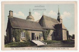 TROIS RIVIERES Quebec Canada, CAP DE LA MADELEINE Church C1940s PQ QC Vintage Postcard - Trois-Rivières