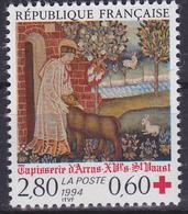 Timbre-poste Neuf** - Au Profit De La Croix-Rouge Tapisserie D'Arras Saint Vaast - N° 2915 (Yvert) - France 1994 - France