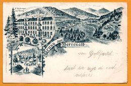 Litho - Gruss Aus Herrenalb - H. Hechinger Zur Sonne - POPPEN & SOHN - 1900 - Bad Herrenalb