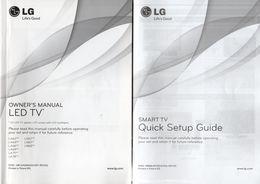 Manuels TV LG Modèles LA62/64/66/69/71/74 Et LN57/61/65 - Television