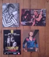 Lot De 4 Cartes Postales / JOHNNY HALLIDAY - Chanteurs & Musiciens
