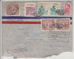 DEVANT DE LETTRE AVIATION  POUR LA SUISSE - 1916 - MULTI-AFFRANCHISSEMENT - Colombie