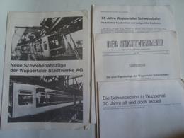 WUPPERTAL STADTWERKE GERMAN ARTICLES - DEUTSCHLAND, GERMANY, 80s. 12+8+8+8 PAGE ARTICLES. - Spoorweg