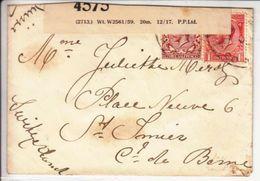 LETTRE POUR LA SUISSE - CENSUREE,DIVERS CACHET ET BANDE DE CENSURE  - 1916 - V/IMAGE- - Covers & Documents