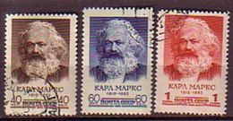 RUSSIA - UdSSR - 1958 -  Marxe - 3v O - 1923-1991 URSS