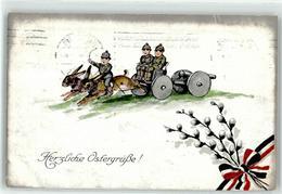52702067 - Kinder In Uniform, Hasen, Kanone, Schwarz-Weiss-Rot, Weidenkaetzchen - Easter