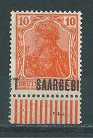 Saar MiNr. 45 ** Stark Verschobener Aufdruck   (sab34) - 1920-35 Saargebied -onder Volkenbond