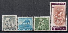 Inde - India 1965-66 Yvert 191-94, Definitive - MNH - Inde
