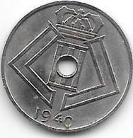 Belguim 5 Centimes 1940 Dutch  Xf+ - 01. 5 Centimes