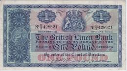 BILLETE DE ESCOCIA DE 1 POUND DEL AÑO 1956  (BANKNOTE) EDINBURGH  (RARO) - [ 3] Escocia