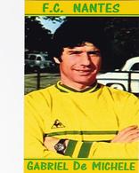 CARTE DE JOUER DU FC. NANTES .  GABRIEL DE MICHELE   SAISONS A NANTES 1963 A 1975 # REFERENCE . JN.FC. 268 - Soccer