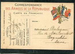 Carte De Correspondance Des Armées De La République, 1916 - Guerre 1914-18