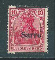 Saar MiNr. 6 A III ** Geprüft Ney BPP Aufdruck Stark Verschoben  (sab34) - 1920-35 Saargebied -onder Volkenbond