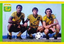 CARTE DE JOUER DU FC. NANTES .  JOSE TOURE-LOIC AMISSE-MAXIME BOSSIS # REFERENCE . CE. 035 - Soccer