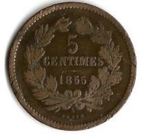 Pièces De Monnaie 5 Centimes 1855 - Luxembourg