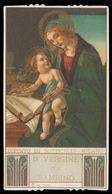 """Madonna Con Bambino Gesù - Madonna Del Libro Di S. Botticelli / Dipinti Celebri - (inizio Novecento) - """"Riproduzione"""" - Imágenes Religiosas"""