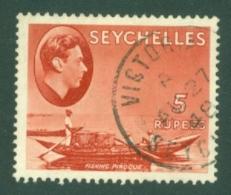 Seychelles: 1938/49   KGVI    SG149a     5R   [Ordinary]    Used - Seychelles (...-1976)