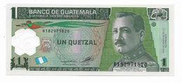 GUATEMALA 1 QUETZAL MAY 2012 (2014) POLYMER UNC BANKNOTE - Guatemala