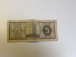 5, CINCO Guaranies, Paraguay ,1952 , Billet , Bon Etat, Circulé - Paraguay