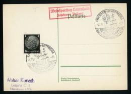DR Postkarte Sonderstempel 1937 Lauenhain SA Gruppe Sachsen Sport Und Wehrkampftag Ungelaufen K1246 - Briefe U. Dokumente