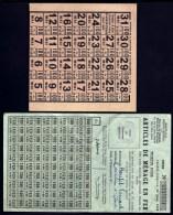 LOT DE TICKETS DE RATIONNEMENT DIVERS- GUERRE 1939-45- VRAC ET FEUILLETS COMPLETS- A ETUDIER- 3 SCANS - Old Paper