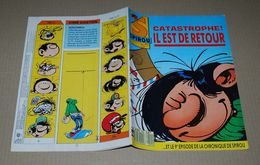 Spirou 2604 8/3/88 Couverture Gaston Lagaffe Franquin Avec Les Chroniques De Spirou - Spirou Magazine