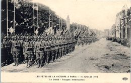 Evenement - Les Fêtes De La Victoire , 14 Juillet 1919 - Le Défilé - Troupes Américaines - Manifestations