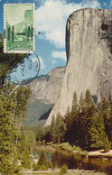 D32517 CARTE MAXIMUM CARD 1955 USA - YOSEMITE EL CAPITAN MOUNTAIN CP ORIGINAL - Andere