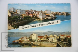 Vintage Postcard Libano - Greetings From Beirut - Posted 1965 - Líbano