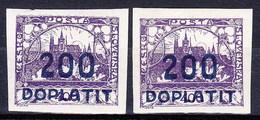 ** Tchécoslovaquie 1922 Mi P 19a (Yv TT 19), (MNH), Couleurs - Postage Due