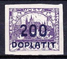 ** Tchécoslovaquie 1922 Mi P 19a (Yv TT 19), (MNH), Timbre Avec Decalque - Timbres-taxe