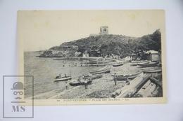 Old France Postcard - Port Vendres - Plage Des Tamaris - Port Vendres
