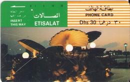 TARJETA TELEFONICA DE EMIRATOS ARABES UNIDOS. TAMURA. (187). REGULAR - Emiratos Arábes Unidos