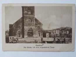 AK Monthois Kirche Mit Dem Abgedeckten Turm Feldpost 1915 Brunnen L'eglise Fontaine - Guerra 1914-18