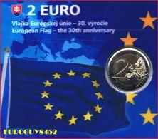 SLOWAKIJE - COINCARD 2 € COM. 2015 BU - 30 JAAR EUROPESE VLAG - Slovaquie
