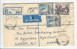 Cover * Handeni * Tanganyika * 1958 * Registered - Kenya, Uganda & Tanganyika