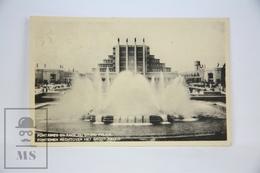 Old Postcard Belgium, Brussels - Fontaines En Face Du Grand Palais - Posted 1935 - Exposiciones Universales