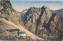 AK Knorrhütte Gegen Hochwanner Color 1914 FP + Hüttenstempel #09 - Garmisch-Partenkirchen