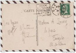 3AB1206 SAINT JEAN DE LUZ INTERIEUR DE L'EGLISE Dagun Dax Ville Thermale Guérison Rhumatisme   2 SCANS - Postmark Collection (Covers)