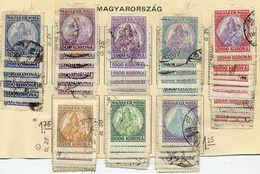 HUNGARY 1923-25 Patrona Hungariae 200Kr - 10000 Kr Accumulation. Used.  Michel 374-79, 401-02 - Hungary