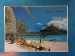 POSTCARD CARTOLINA FORMATO GRANDE VIAGGIATA POLINESIA FRANCESE BORA BORA HOTEL LE MERIDIEN - Polinesia Francese