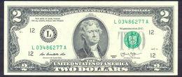 USA 2 Dollars 2013 L AUNC # P- 538 L - San Francisco CA - Federal Reserve Notes (1928-...)