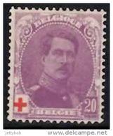 BELGIUM 1914 King Albert Red Cross 20c Mint - 1914-1915 Red Cross