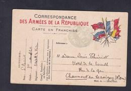 Guerre 14-18 Carte Franchise Correspondance Militaire Louis Thiriot Commercy Sergent Automobiliste Verdun à Sa Femme - Marcophilie (Lettres)