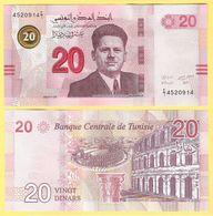 Tunisia 20 Dinars P-new 2017 UNC - Tunisia