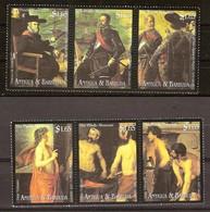Antigua & Barbuda 2000 Yvertn° 2845-2850 *** MNH Cote 15,00 Euro Peintures Musée Du Prado - Antigua Et Barbuda (1981-...)