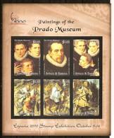 Antigua & Barbuda 2000 Yvertn° 2895-2900 *** MNH Cote 15,00 Euro Peintures Musée Du Prado - Antigua Et Barbuda (1981-...)